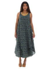 robe ample d'été a bretelles avec col rond et ceinture Kementari 289818