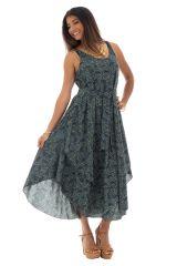 robe ample d'été a bretelles avec col rond et ceinture Kementari 289819