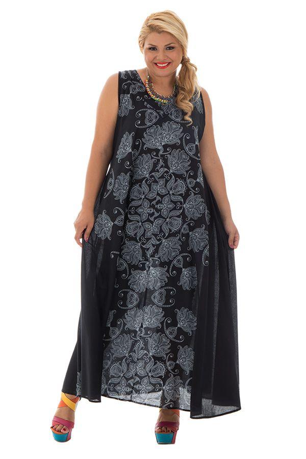 Robe ample en voile de coton avec imprimés atypiques Sunday 290234