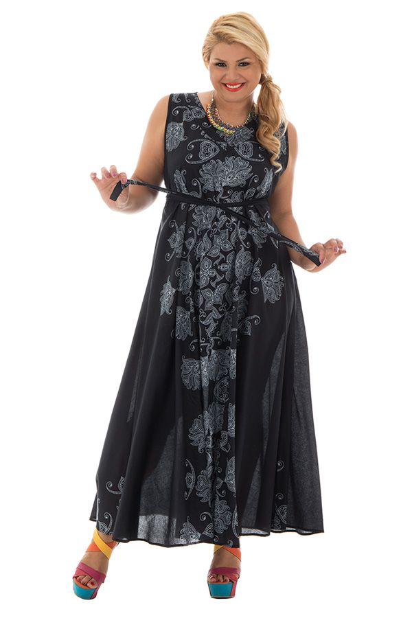 Robe ample en voile de coton avec imprimés atypiques Sunday 290235