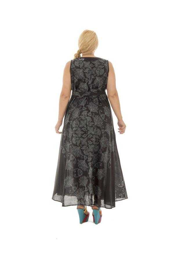Robe ample en voile de coton avec imprimés atypiques Sunday 290236