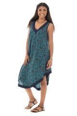 robe ample et agréable avec col v et coupe asymétrique Nerdanel 289839