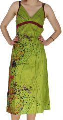 Robe Anis mi-longue d'été Ethnique et Colorée Christelle 282431
