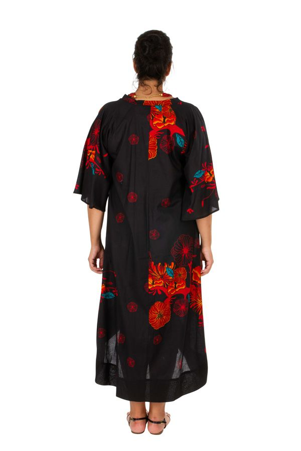 Robe asymétrique et originale noire en grande taille Asma 309788
