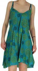 Robe asymétrique Originale et Colorée Samka Bleue 282373
