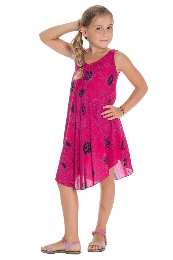 Robe Asymétrique pour enfant Ethnique et Colorée Marie-Louise 295801