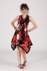 robe asymétrique sans manche originale ethnique Britney 288243