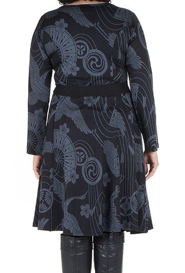 Robe automne hiver Originale pour femme Pulpeuse imprimée chaillenise 300374