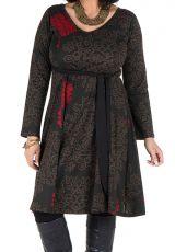 Robe automne hiver Originale pour femme Pulpeuse motifs sakura 300396