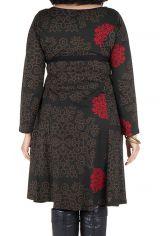 Robe automne hiver Originale pour femme Pulpeuse motifs sakura 300398