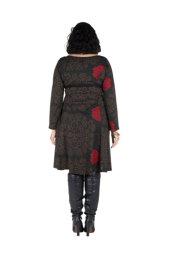 Robe automne hiver Originale pour femme Pulpeuse motifs sakura 300399