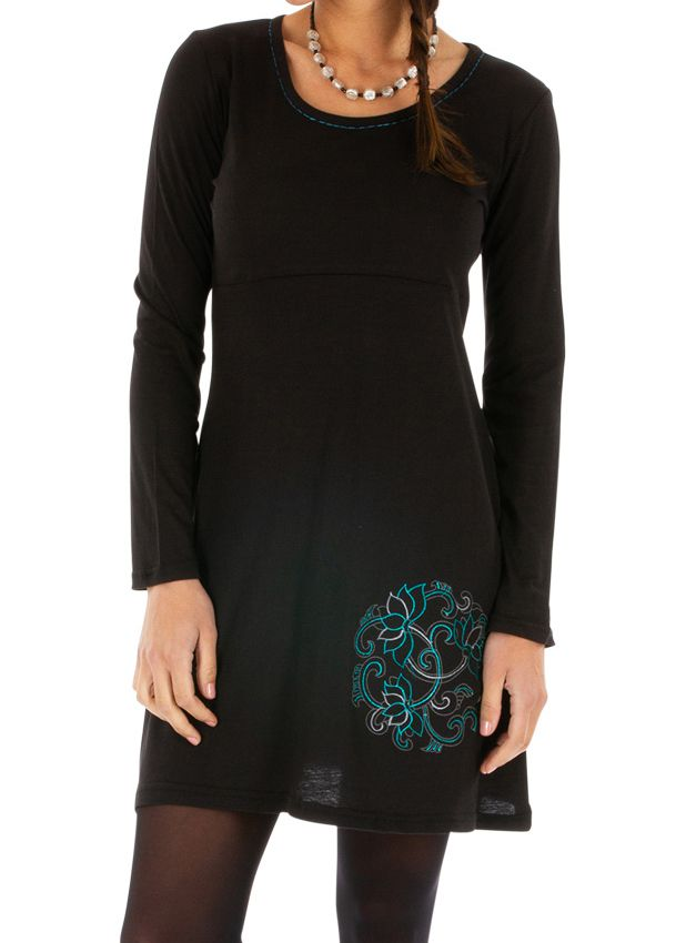 Robe automne noire originale et pas chère femme Zuénoula 314041