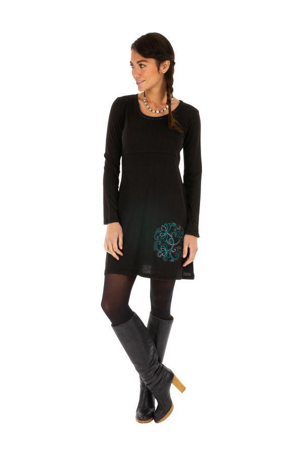 Robe automne noire originale et pas chère femme Zuénoula 314042