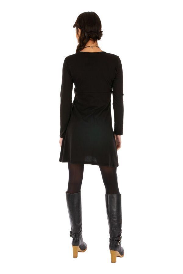 Robe automne noire originale et pas chère femme Zuénoula 314043