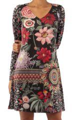 Robe avec un imprimé fleuri look bohème tendance  Jinah 305437