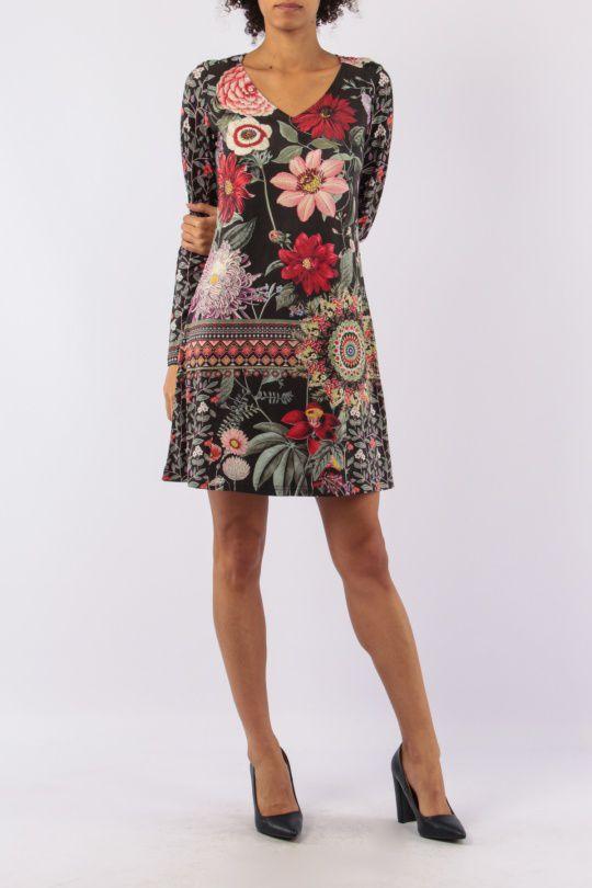 Robe avec un imprimé fleuri look bohème tendance  Jinah 305438