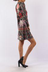 Robe avec un imprimé fleuri look bohème tendance  Jinah 305439