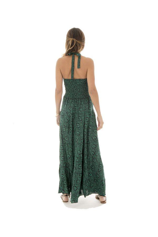 robe avec un lien à nouer féminine et col pigeonnant verte Tove 289694