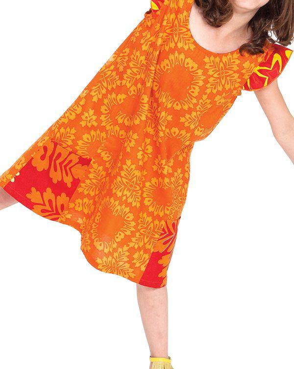 Robe rajah pour enfant jaune et orange originale et pas chere - Credence originale pas chere ...