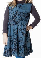 Robe bleue avec des motifs floraux pour enfant 287388