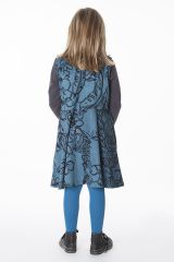 Robe bleue avec des motifs floraux pour enfant 287390