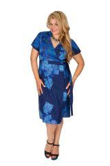 Robe bleue effet cache-coeur femme grande taille Noumy 309253