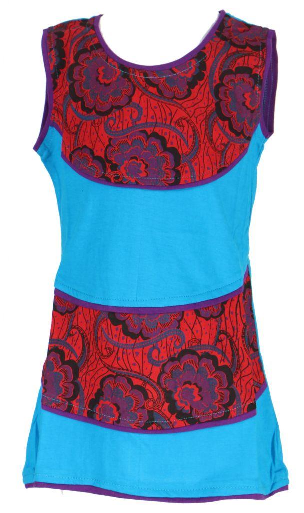 Robe bleue imprimée pour fille Néréa 268704