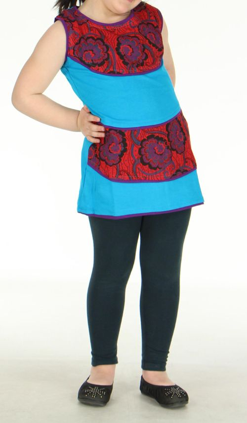 Robe bleue imprimée pour fille Néréa 270799