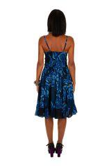 Robe bleue marine coupe bain de soleil femme Stefania