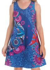 Robe Bleue pour Fille sans manches Imprimée et Colorée Pongo 280540