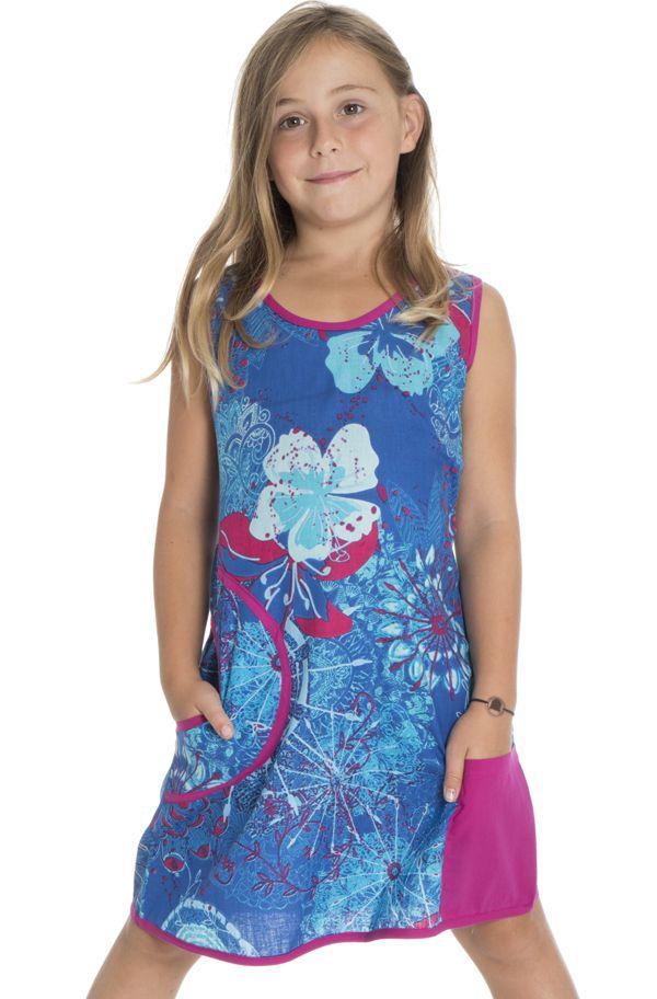 Robe bleue très Originale pour fillette Ethnique et Vive Alizée 296169