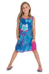 Robe bleue très Originale pour fillette Ethnique et Vive Alizée 296170