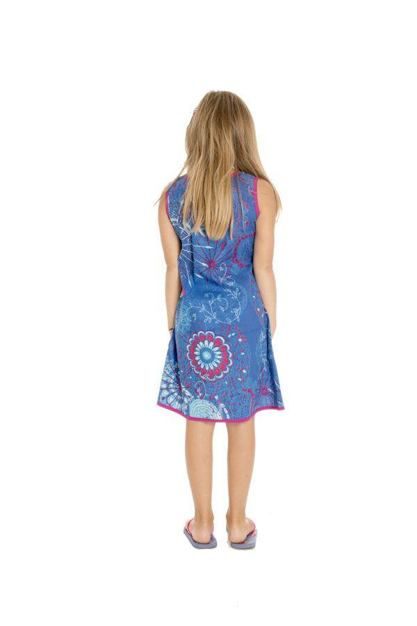 Robe bleue très Originale pour fillette Ethnique et Vive Alizée 296171