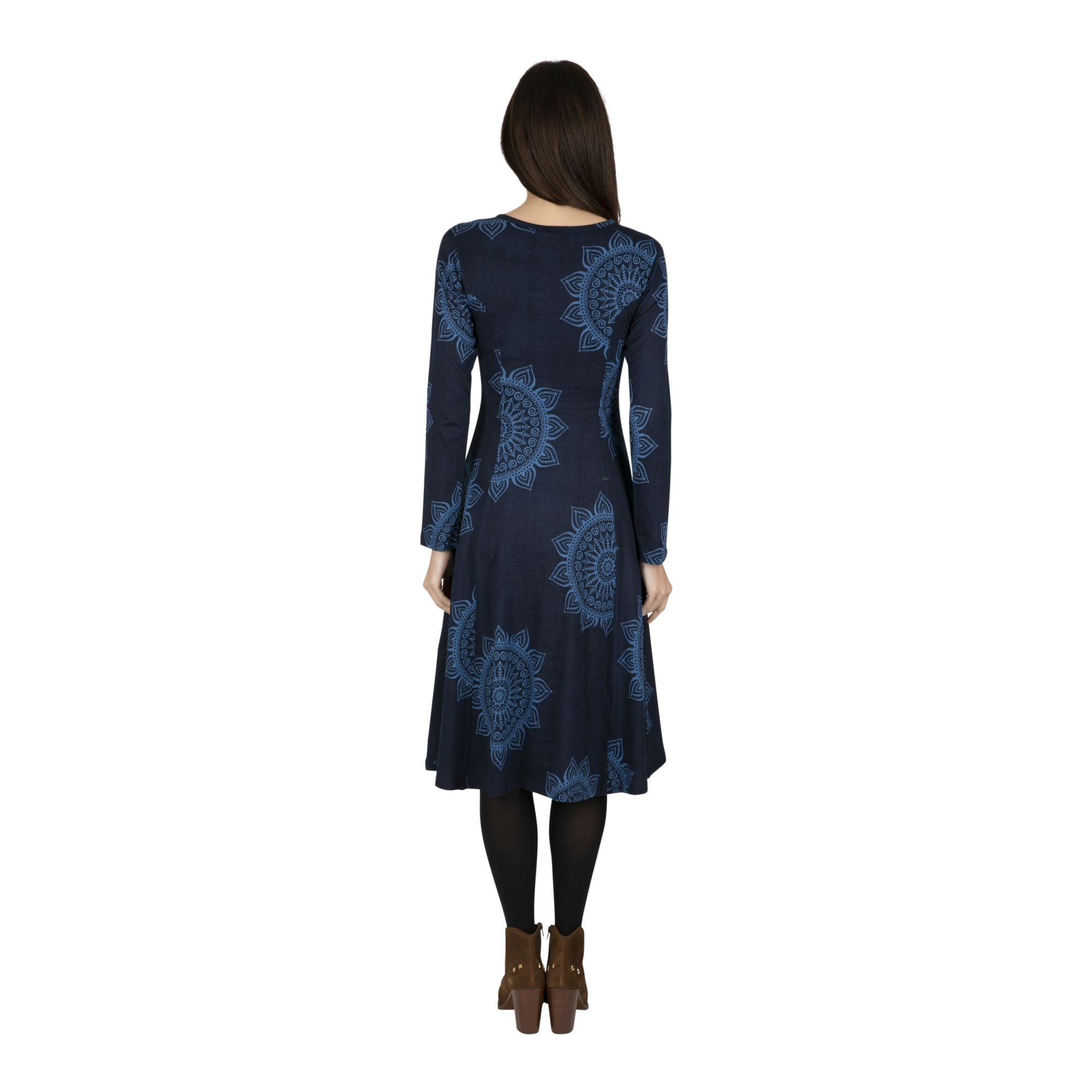 Robe bohème collection hiver à imprimé mandala Virginia