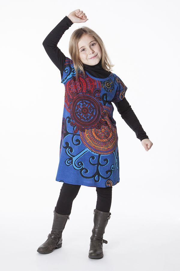 Robe bohème pour petite fille à motifs baroques 287448