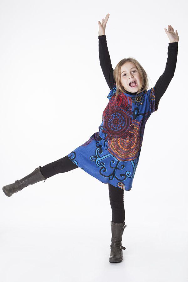 Robe bohème pour petite fille à motifs baroques 287449