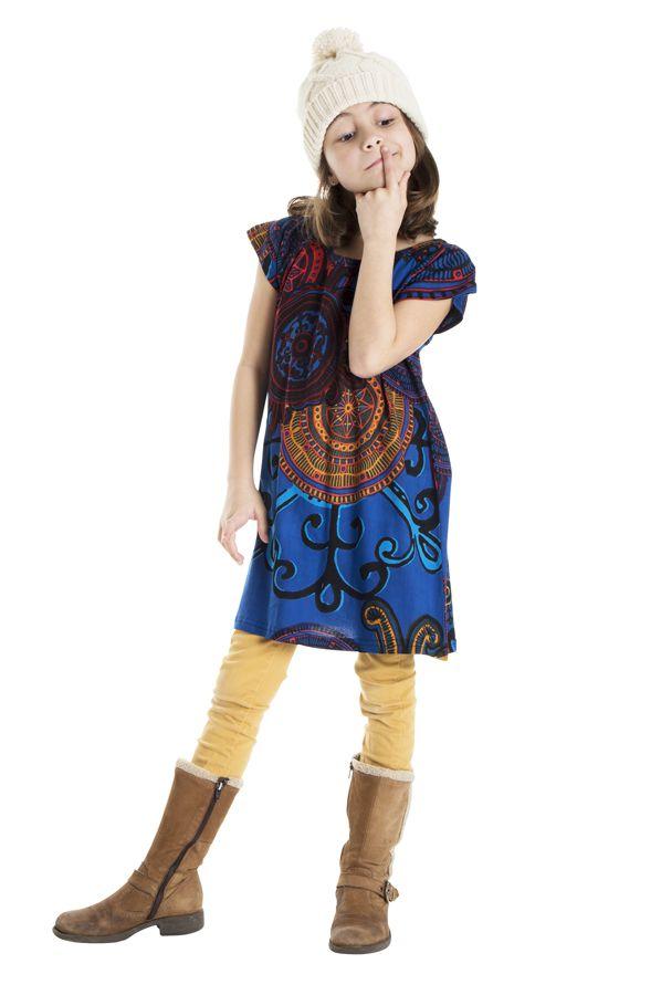 Robe bohème pour petite fille à motifs baroques 302259