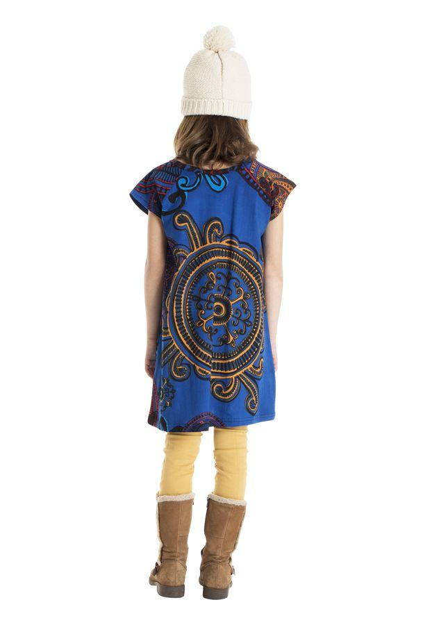 Robe bohème pour petite fille à motifs baroques 302260