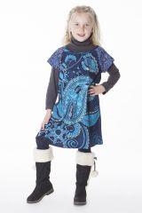 Robe bohème pour petite fille pas chère bleu 287441