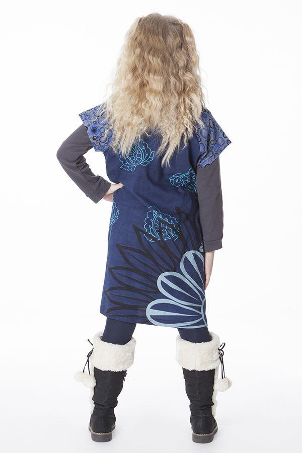 Robe bohème pour petite fille pas chère bleu 287442