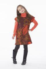 Robe bohème pour petite fille pas chère marron 287438