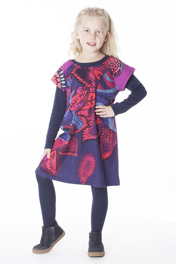 robe boh me pour petite fille pas ch re violette. Black Bedroom Furniture Sets. Home Design Ideas