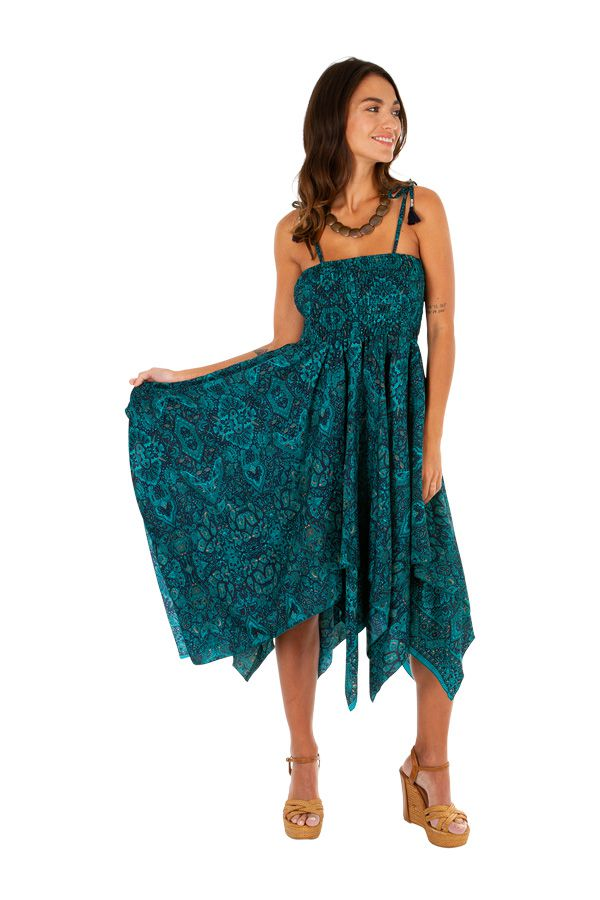 Robe bustier 2 en 1 amovible en jupe longue bohème Prisca 306162