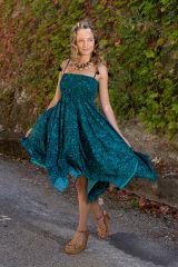 Robe bustier 2 en 1 amovible en jupe longue bohème Prisca 306164
