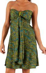 Robe bustier d'été Verte Originale et Tendance Hujila 285921