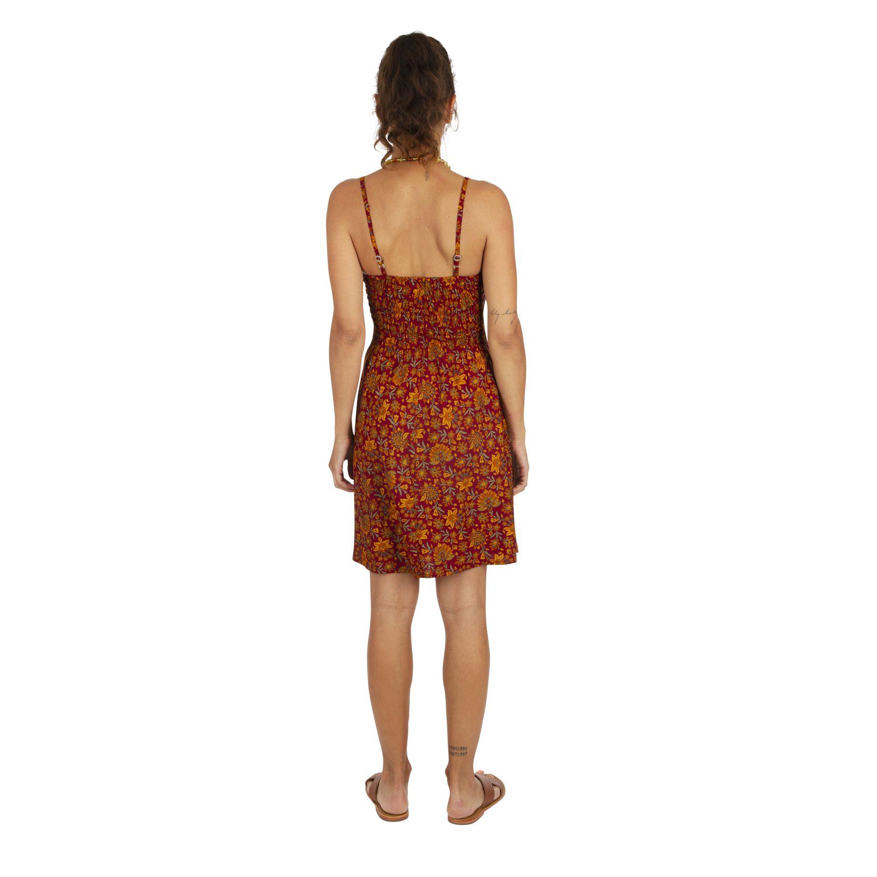 Robe caraco façon nuisette imprimé à fleurs Issa