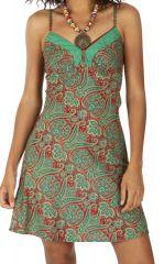 Robe caraco nuisette imprimé et style bohème Prinsia