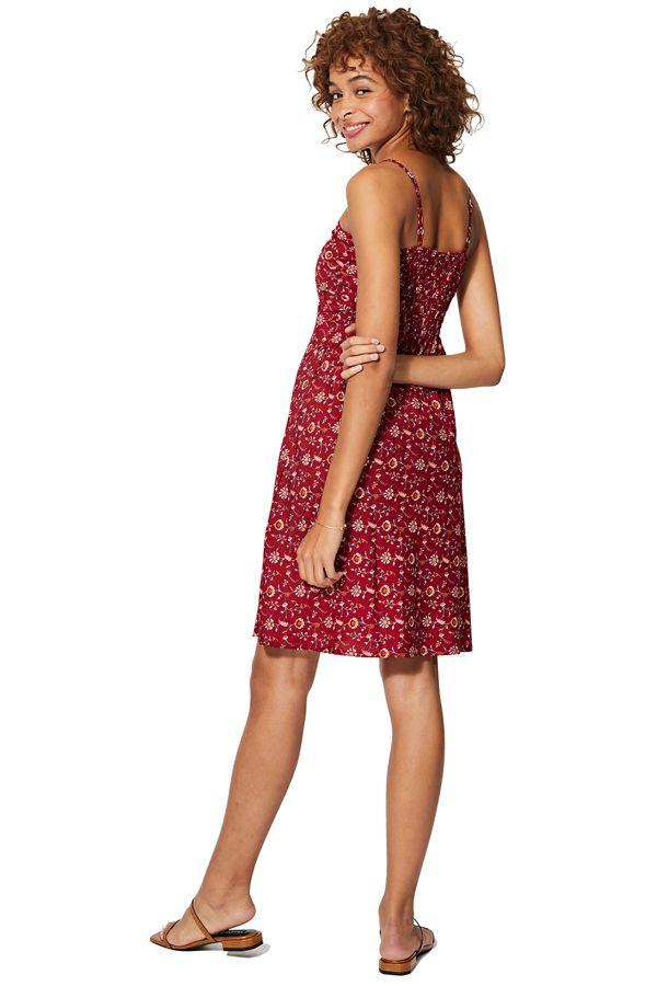 Robe caraco rouge courte ou slip dress femme pour été chic et fluide Sandie