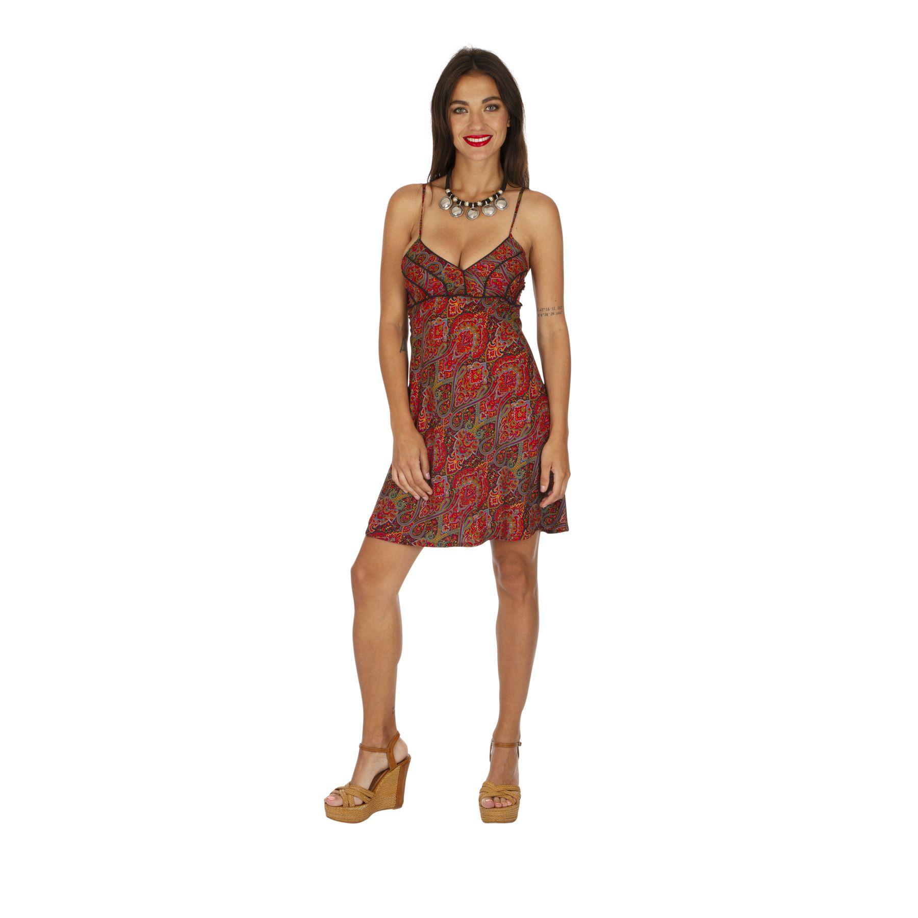Robe caraco rouge et sexy robe de plage tendance été Sabrinay