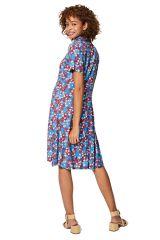 Robe chemise femme chic imprimé fleurs mode Eléa